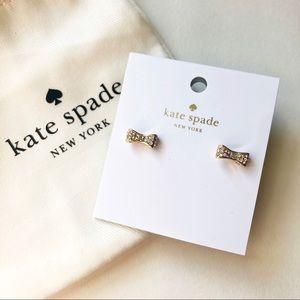 KATE SPADE Ready Set Bow Pave Stud Post Earrings